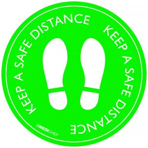 Floor Vinyl - Keep Safe Distance (Pack of 5)