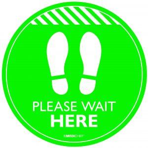 Floor Vinyl - Please Wait Here (Pack of 5)