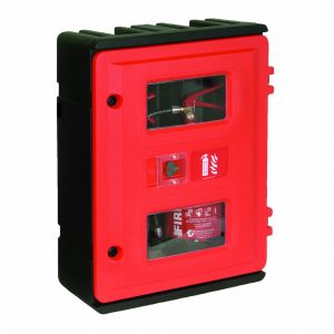 HS72K Double Fire Extinguisher Cabinet with Keybox