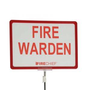 Telescopic Fire Warden Sign