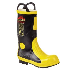 Tuffking 9687 Rubber Fire Fighting Boots, MED